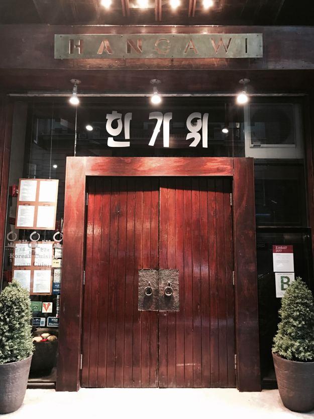 L'entrata di Hangawi, a Korean Town