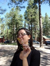 Me smelling something at Yosemite ParkLOL, 2009